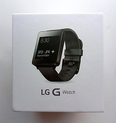 LG G Watch W100 | Titan Black Android Smartwatch | Dustproof and Water Resistant