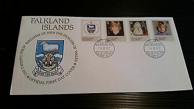 Falkland Islands 1982 Sg 426-429 21St Birthday Of Princess . First Day Cover