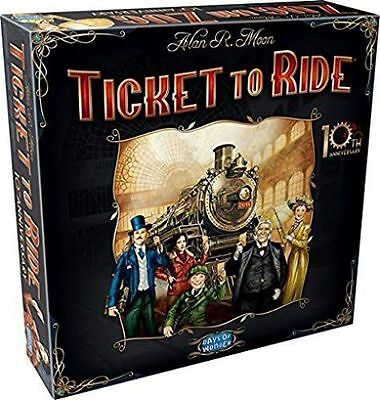 Days of Wonder Ticket To Ride 10th Anniversary Edition Sealed Box Brand New Best
