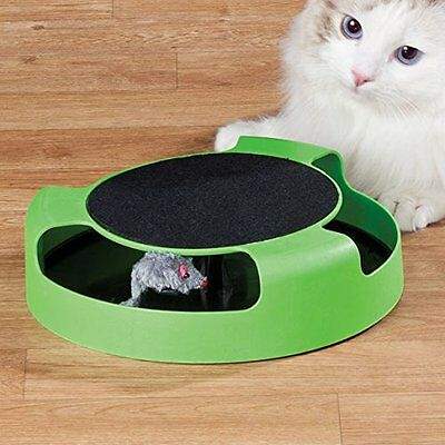 Cat Kitten Catch The Mouse Moving Play Toy Interactive Plush Scratching Claw Mat