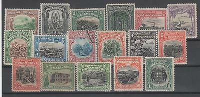 Mozambique Company 1918-24  Issue Mint & Used.  17 Stamps
