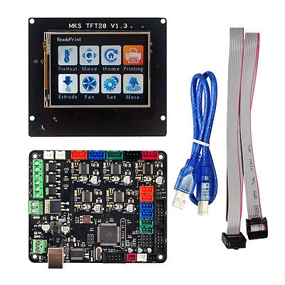 "MKS Base V1.5 Controller Board+2.8"" TFT LCD Touch Screen For 3D Printer New"