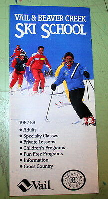 Vail & Beaver Creek Ski Resort Colorado Ski School Brochure 1987 - 1988 Season