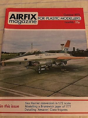 VINTAGE AIRFIX MAGAZINE-1975 OCT - USAF F16  COVER +see contents page photo