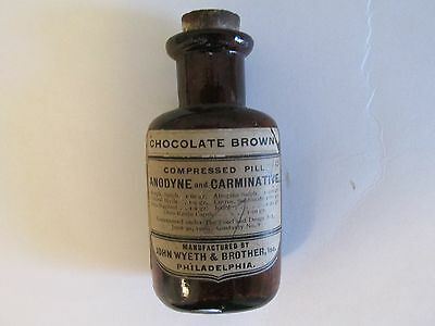 Morphine Bottle, 1919, Opium, Drugs, Narcotics, Very Good Condition, Morphine