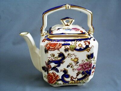 """LOVELY VINTAGE MASONS IRONSTONE/BLUE  MANDALAY SMALL 2 CUP TEAPOT 5.5"""" (140 mm)"""
