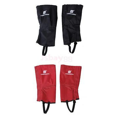 2 Pairs Waterproof Hiking Climbing Snow Legging Gaiters Leg Covers Small