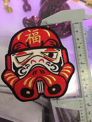 Star Wars Japan Inspired Daruma Trooper Patch Gold Accents Good Fortune