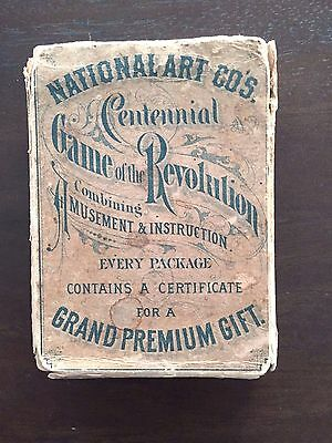 RARE ANTIQUE VINTAGE 1876 CENTENNIAL GAME OF THE REVOLUTION -puzzle history game