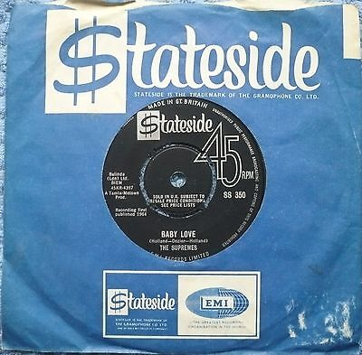 """THE SUPREMES - Baby Love     (7"""" single)"""