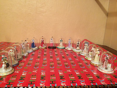 15 AVON MRS ALBEE MINI PRESIDENTS CLUB DOLLS with Glass cases