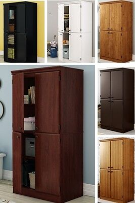 4 Door Storage Cabinets Bookcase Cabinet Shelves Shelving Units Office Bedroom