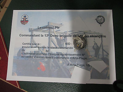 French Foreign Legion Etrangere-2 REP-comando 13 DBLE-Aguerrissement-nymbered