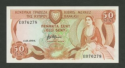 CYPRUS - 50 sent  1984  P49  Uncirculated  ( Banknotes )