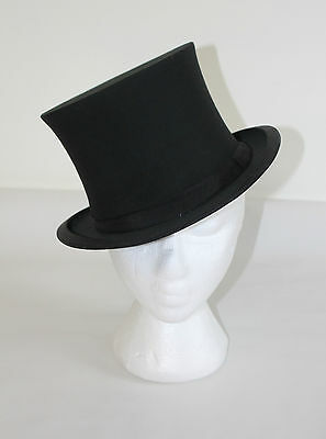 Vintage Top Hat Collapsible - The King Hat - Lyons London England Silk OPERA