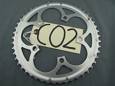 USED CAMPAGNOLO 50T COMPACT (50/34) 110mm BCD 10sp CHAINRING  ALLOY 3/32nd (C02)