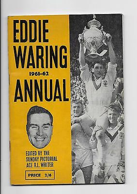 Eddie Waring Rugby League Annual 1961/62 England Australia World Cup Leeds