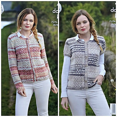 KNITTING PATTERN Ladies Long and Short Sleeve Lace Cardigan DK King Cole 4800