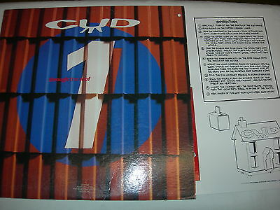 """CUD - Through The Roof - 12"""" single - with mint CUD house kit insert"""