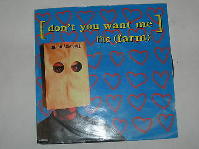 """The Farm - Don't You Want Me - 7"""" Single in picture sleeve"""