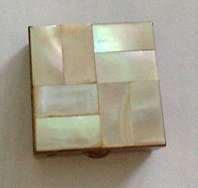 Vintage Mother Of Pearl Small Pill Box