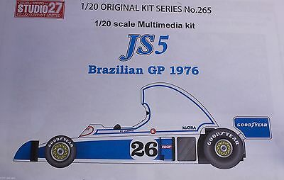 1/20 Ligier JS5 resin Multimedia kit Studio 27 S27 Brazilian gp Formula 1 F1 new