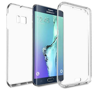 For Samsung Galaxy S6 Edge Shockproof 360° Slim Clear Silicone Gel Case Cover