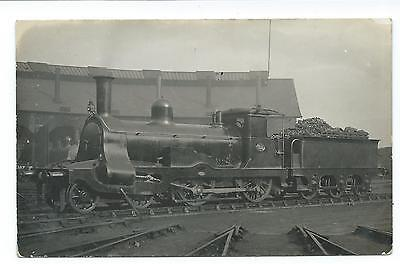HIGHLAND RAILWAY - Steam Loco no. 32 (Later LMS 14282) Real Photograph Postcard