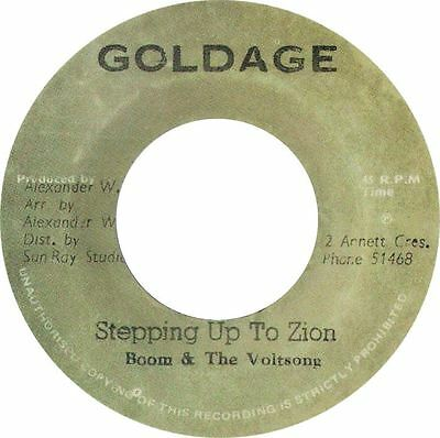 """Boom And The Voltsong - Stepping Up To Zion (7"""" Goldage)"""