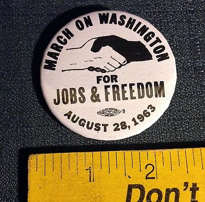 "REPRODUCTION ""March on Washington"" Pin / Button Martin Luther King, Civil Rights"