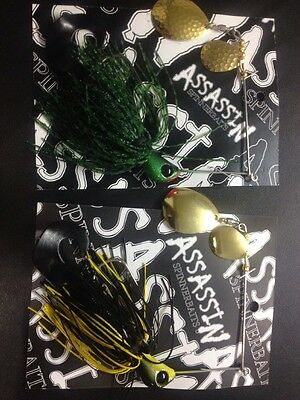 Assassin Spinnerbaits murray cod and yellowbelly 2 X One Ounce Spinner Bait #19