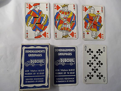 Vintage French Playing Cards Transport Co, 32 Cards