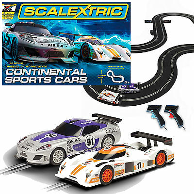 Car Racing Scalextric 1:32 Scale Continental Sports Cars Race Set
