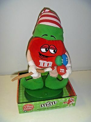 """NEW M&M's Red Elf Musical Animation Plays """"I Want Candy"""" Bounces Up and Down"""