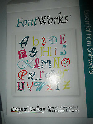 Fontworks Font Software by Designers Gallery NEW sealed