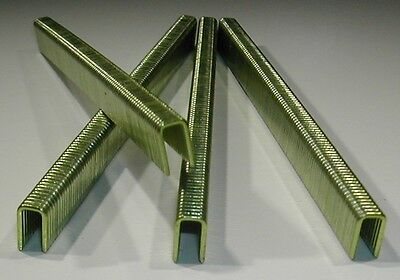 "1/4"" Inch Narrow Crown Staples 18 gauge 3/8"" Inch Long (5,000 pcs) GALVANIZED"