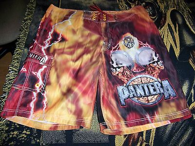 NEW PANTERA Dragonfly Swim Suit Surf Trunks Board Shorts Sz 40 COWBOYS FROM HELL