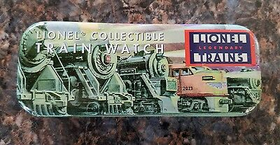 Lionel Collectible Train Watch Tin Case Used Good Condition