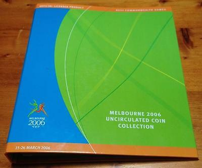 2006 50 Cent Melbourne Commonwealth Games (18 Coins) In Album Of Issue..scarce.