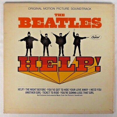 "RARE! BEATLES ""HELP!"" 1965 MONO CAPITOL 1st PRESSING (No Ken Thorne) LABEL ERROR"