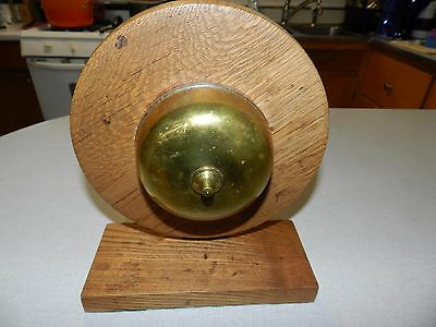 Vintage wind-Up Brass Push Button Spring loaded Bell