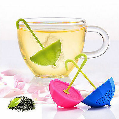 Herbal Loose Leaf Silicone Umbrella Tea Infuser Spice Strainer Filter Diffuser