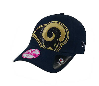 online store 49bc5 ec4a8 New Era 9Forty Women s Hat Los Angeles Rams Blue Glitter Glam Official Team  Cap