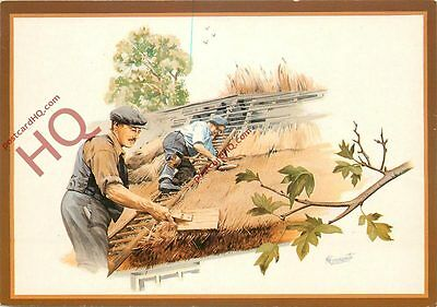 Postcard: Thatching By Malcolm Greensmith