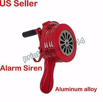 Newly All Metal Construction Manual Operated ALARM SIREN Hand Crank