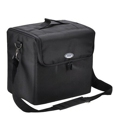 Portable Oxford Black Makeup Bag Case Travel Artist Cosmetic Organizer w/Strap