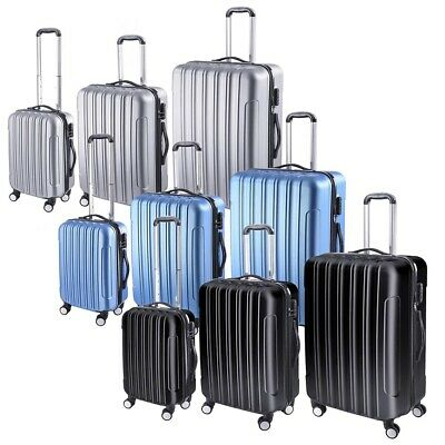 "3 Piece Travel Luggage Set Fashion Hardside 360° Rolling Suitcase 20"" 24"" 28"""