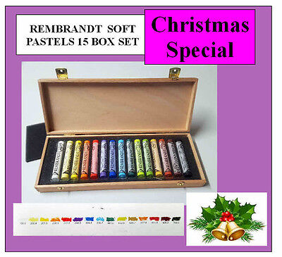 Rembrandt Soft Pastels Box Of 15 Assorted Full Sticks- Christmas Special