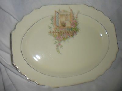 """PLATTER  by W. S. George, Breakfast Nook Canary tone 11 1/2"""""""