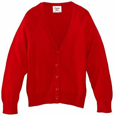 Rosso (Scarlet) (TG. C32 IN- UK) Charles Kirk Coolflow - Cardigan, unisex, Rosso